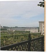 Chateau Vilandry And Garden View Wood Print