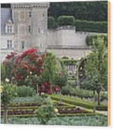 Chateau Villandry And The Cabbage Garden  Wood Print
