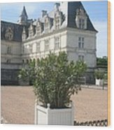 Chateau Villandry View Wood Print
