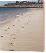 Chatham Beach Stroll Wood Print