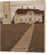 Chatham Lighthouse Wood Print by Skip Willits