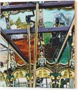 Chattanooga Carousel Wood Print
