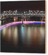 Chattanooga Holiday Boat Parade Wood Print