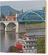 Chattanooga Riverfront Wood Print