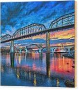 Chattanooga Sunset 3 Wood Print