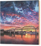 Chattanooga Sunset 4 Wood Print by Steven Llorca