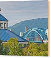 Chattanooga View Wood Print