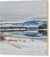 Chatuge Dam Winter Vista Wood Print