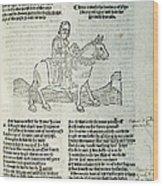 Chaucer: Prologue Wood Print
