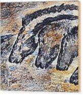 Chauvet Cave Auroch And Horses Wood Print