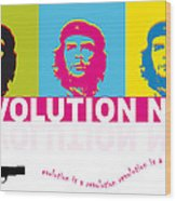 Che Guevara - Revolution Now Wood Print