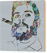Che Watercolor Wood Print