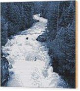 Cheakamus Glacial River - Whistler Wood Print