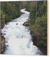 Cheakamus Lake Source - Whistler Wood Print