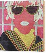 Cheap Sunglasses Wood Print by Diane Fine