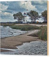 Cheboygan Crib Lighthouse #18 Wood Print