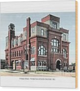 Cheboygan Michigan - Opera House And City Hall - Huron Street - 1905 Wood Print