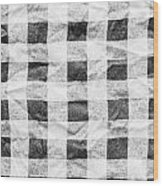 Checked Cloth Wood Print