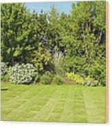 Checkerboard Lawn Wood Print