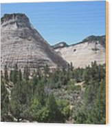 Checkerboard Mesa Wood Print