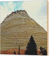 Checkerboard Mesa  Wood Print by J Allen