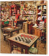 Checkers At Jefferson General Store Wood Print