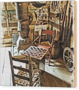 Checkers At The General Store Wood Print