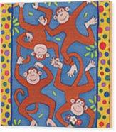 Cheeky Monkeys Wc Wood Print