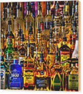 Cheers - Alcohol Galore Wood Print