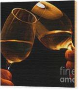 Cheers Wood Print by Patricia Hofmeester