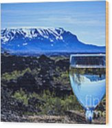 Cheers To Iceland Wood Print