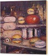 Cheese Shop Window Wood Print by R W Goetting