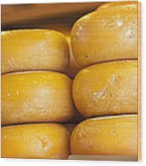 Cheese Wheels Wood Print
