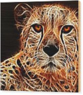 Cheetah Artwork Wood Print