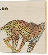 Cheetah Painting Wood Print