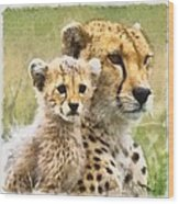 Cheetah Two Wood Print