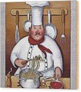 Chef 4 Wood Print by John Zaccheo