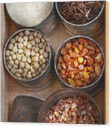 Chef - Food - Health Food Wood Print by Mike Savad