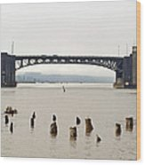 Chehalis River Aberdeen Wa Wood Print