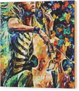 Chelo Player Wood Print