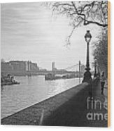 Chelsea Embankment London Uk 3 Wood Print