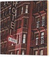 Chelsea Hotel Wood Print