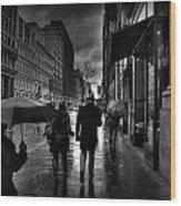 Chelsea Rain Wood Print
