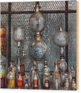 Chemist - The Apparatus Wood Print by Mike Savad