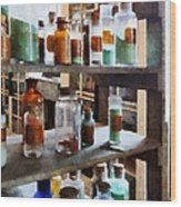 Chemistry - Bottles Of Chemicals Wood Print