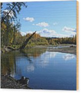 Chena River Wood Print
