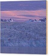 Chenega Glacier At Sunrise Wood Print