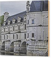 Chenonceau And River Cher Wood Print