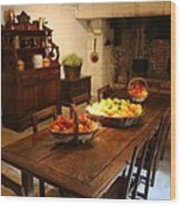 Chenonceau Kitchen  Wood Print