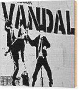 Chequebook Vandal Wood Print